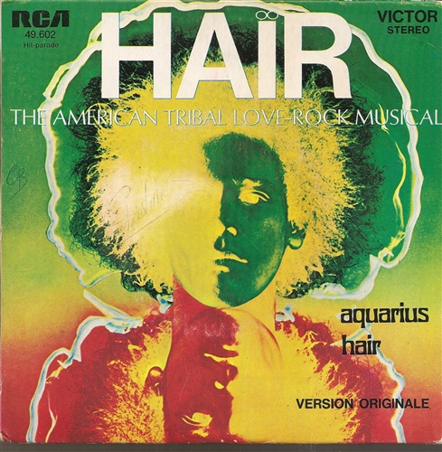 "Soundtrack - Hair- 7"" Vinyl France"