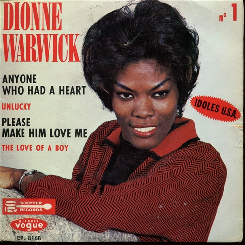 "Dionne Warwick - Anyone Who Had A Heart- 7"" Vinyl France"