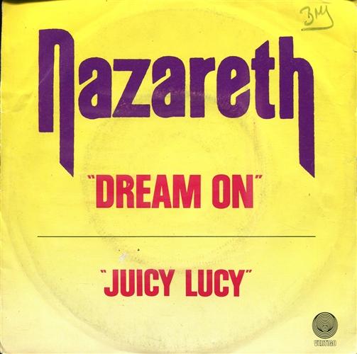 "Nazareth - Dream On- 7"" 45rpm Vinyl France"