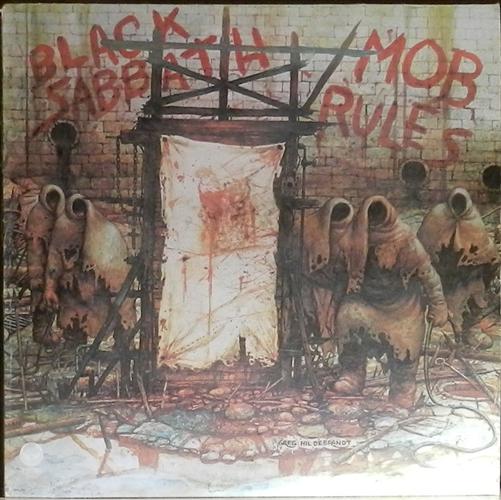 """Black Sabbath - Mob Rules- 12"""" 33rpm Lp Vinyl France"""