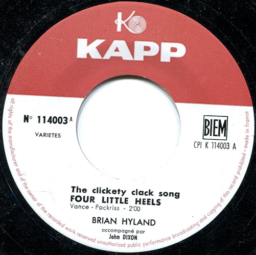 Brian Hyland - Corre, Corre, Mira Y Ve = Run, Run, Look And See