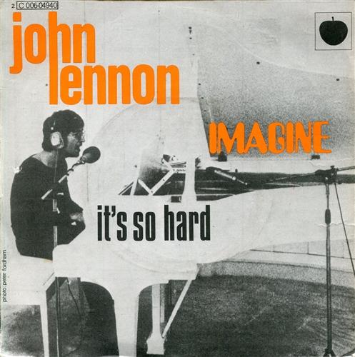 """John Lennon - Imagine- 7"""" 45rpm Vinyl France"""