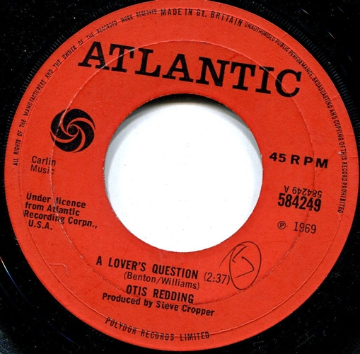 OTIS REDDING - A lover's question - 45T x 1