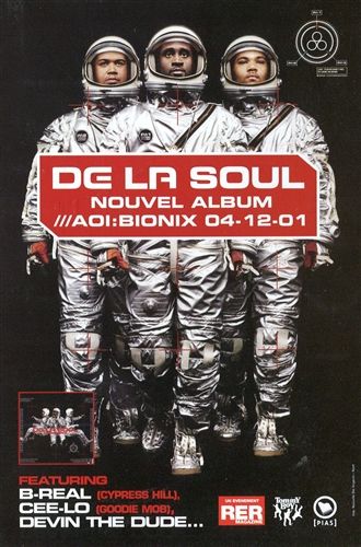 DE LA SOUL - DAN THE AUTOMATOR - Nouvel album - 50 gr
