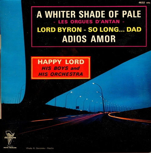 HAPPY LORD - A whiter shade of pale - 45T x 1