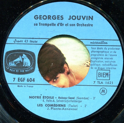 GEORGES JOUVIN - J'entends siffler le train - 45T x 1