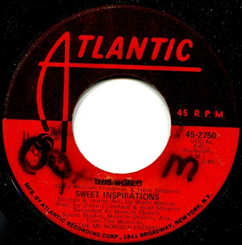 Sweet Inspirations - This world / Light sings - 45 RPM