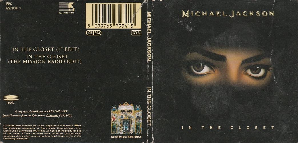 MICHAEL JACKSON - In The Closet - CD single